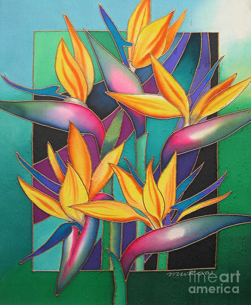 Maria Island Wall Art - Painting - Birds Of Paradise by Maria Rova