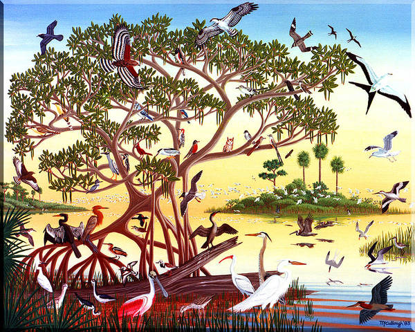 Painting - Birds Of South Florida Filtered by Duane McCullough