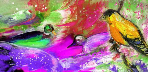 Painting - Birds On Planet Goodaboom by Miki De Goodaboom