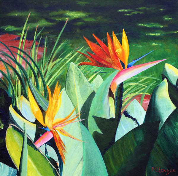 Painting - Birds...in Paradise by Phyllis London