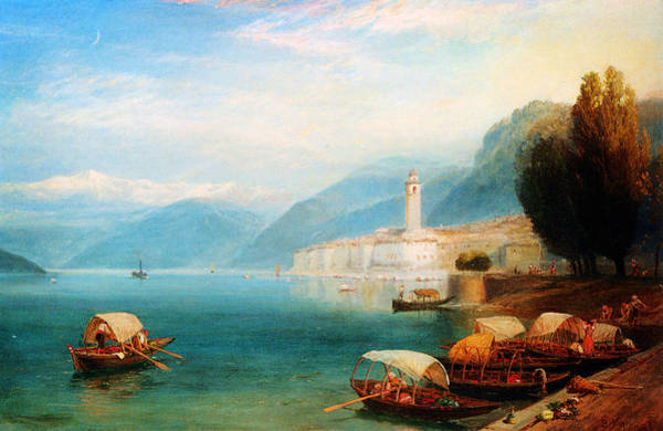 Lake Como Painting - Birket Foster Lake Como by MotionAge Designs