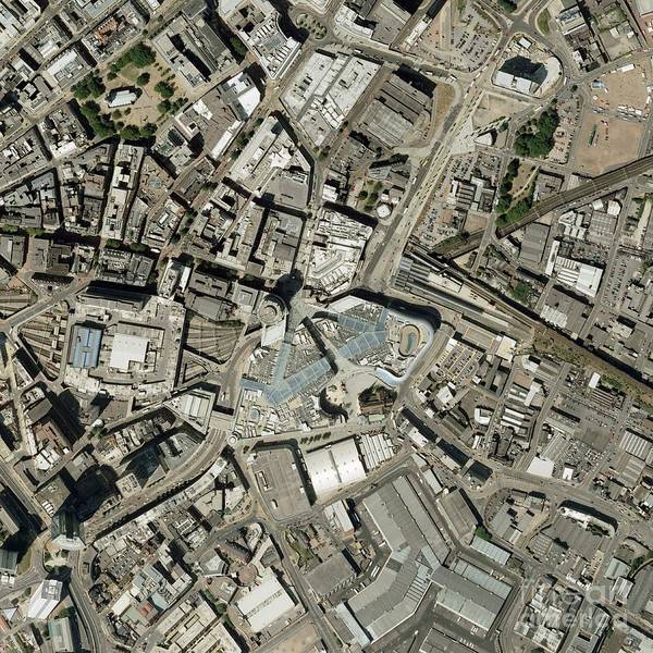 Road Map Photograph - Birmingham City Centre, Aerial Photograph by Getmapping Plc