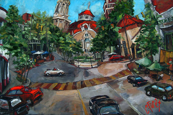 Birmingham Wall Art - Painting - Birmingham Five Points by Carole Foret