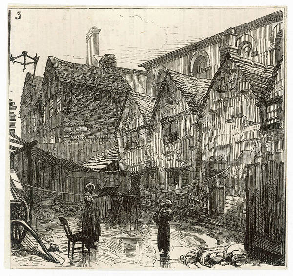 Wall Art - Drawing - Birmingham  Pegging Out The  Washing by  Illustrated London News Ltd/Mar