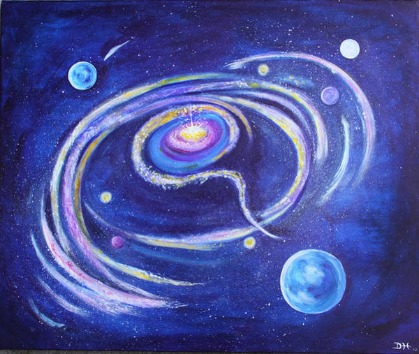 Painting - Birth Of A Galaxy by Diana Haronis