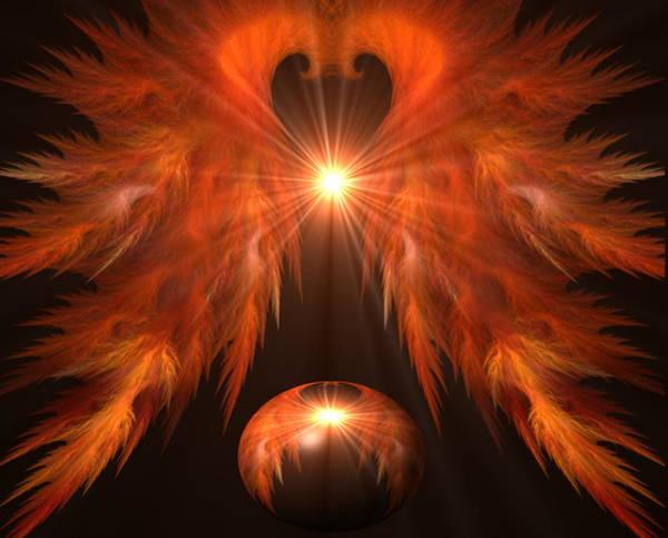 Crochet Digital Art - Birth Of A Phoenix by Brandi Elaine Crochet