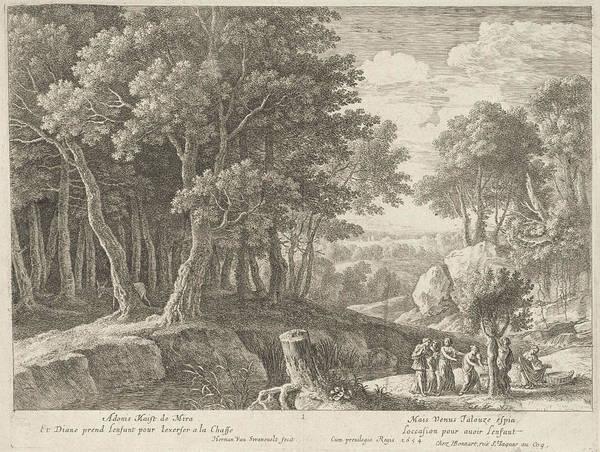 Prepare Drawing - Birth Of Adonis, Herman Van Swanevelt, Henri Bonnart by Herman Van Swanevelt And Henri Bonnart (i)