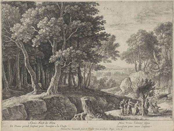 Prepare Drawing - Birth Of Adonis, Herman Van Swanevelt by Herman Van Swanevelt