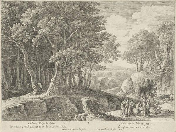 Prepare Drawing - Birth Of Adonis, Herman Van Swanevelt, Lodewijk Xiv King by Herman Van Swanevelt
