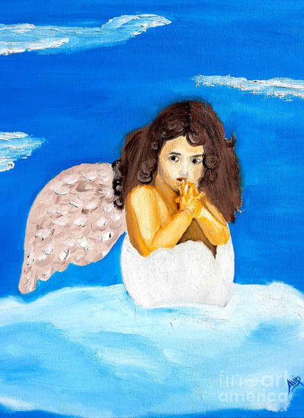 Avi Painting - Birth Of An Angel by Avishai Avi     Peretz