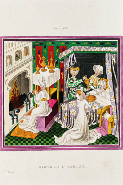 King George Wall Art - Photograph - Birth Of King Edmund The Martyr by George Bernard/science Photo Library
