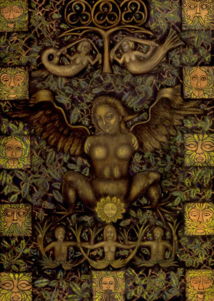 Crone Wall Art - Mixed Media - Birth Of The Greenman by Diana Perfect