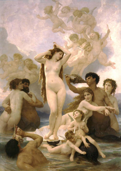 Birth Digital Art - Birth Of Venus by William Bouguereau