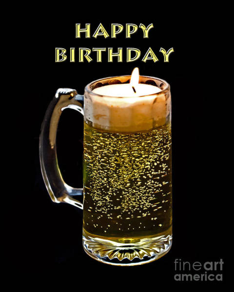Text Bubble Photograph - Birthday Beer by Tom Gari Gallery-Three-Photography