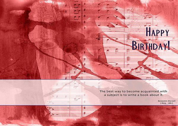 Birthday Quote 3 Art Print