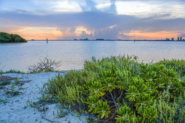 Key Biscayne Photograph - Biscayne Bay Sunset by Manuel Lopez
