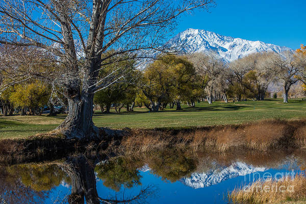 Sierra Nevada Mountain Range Photograph - Bishop Country Club Reflection Of Sierra Nevada by Gary Whitton