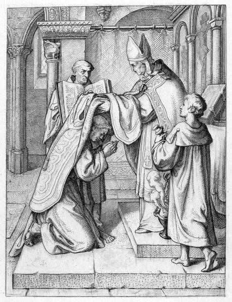 Wall Art - Painting - Bishop Ordaining Priest by Granger