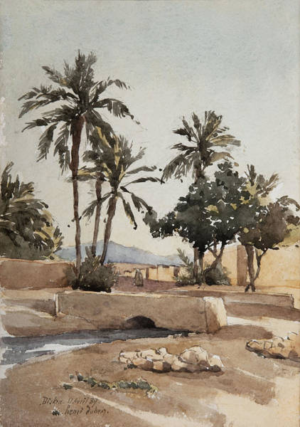 North Africa Wall Art - Painting - Biskra, 17th April 1889  by Henri Duhem