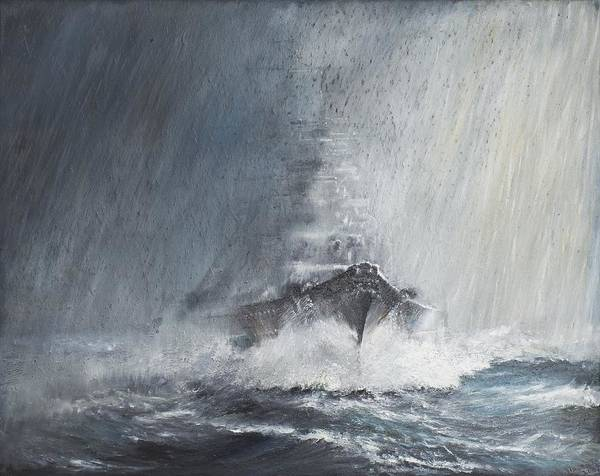 Wall Art - Painting - Bismarck Through Curtains Of Rain by Vincent Alexander Booth