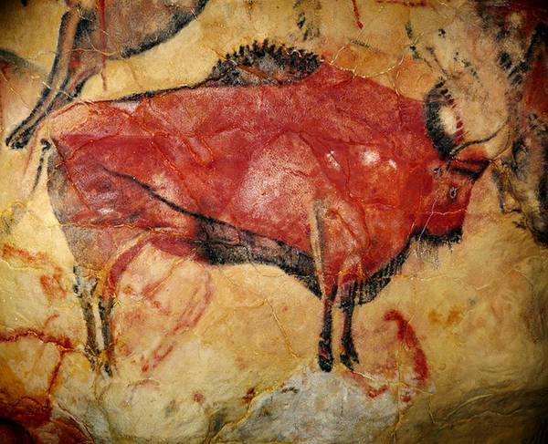 Wall Art - Painting - Bison Altamira Cave by L Brown