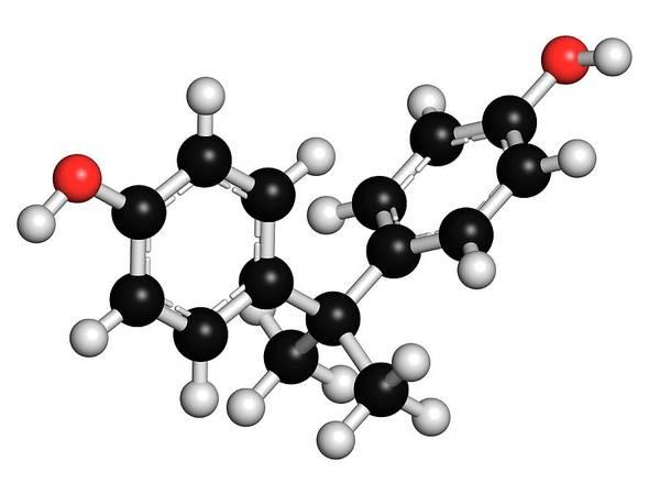 Model A Photograph - Bisphenol A Plastic Pollutant Molecule by Molekuul