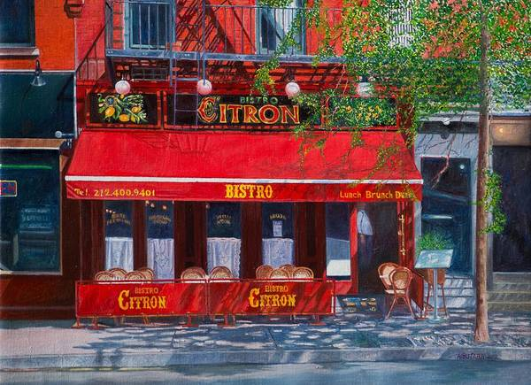 Dining Al Fresco Painting - Bistro Citron New York City by Anthony Butera