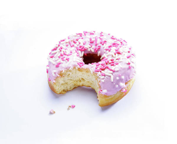 Hundred Photograph - Bitten Doughnut by Cordelia Molloy/science Photo Library