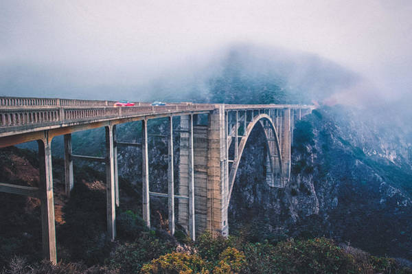 Photograph - Bixby Creek Bridge by Shuwen Wu