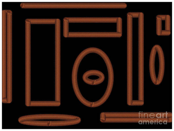 Digital Art - Black And Gold Chain Design by Barefoot Bodeez Art