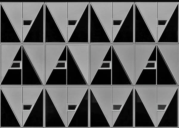 Wall Art - Photograph - Black And Grey Triangles by Theo Luycx