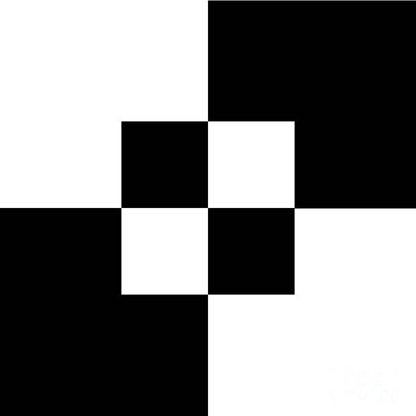 Digital Art - Black And White 1 Square  by Andee Design