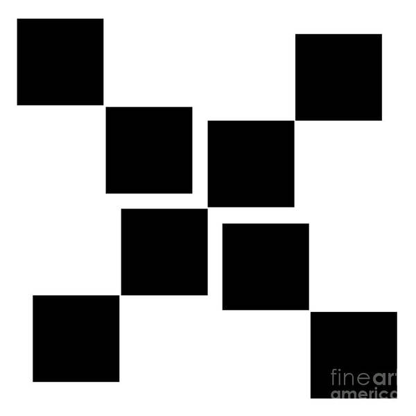 Digital Art - Black And White 10 Square by Andee Design