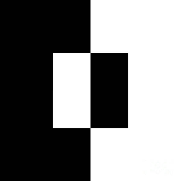 Digital Art - Black And White 2 Square  by Andee Design