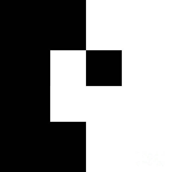 Digital Art - Black And White 3 Square by Andee Design