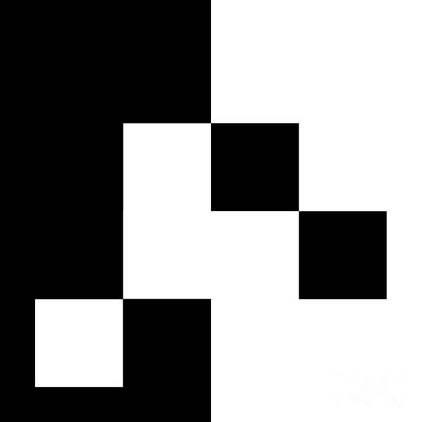 Digital Art - Black And White 4 Square by Andee Design