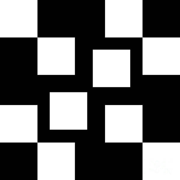 Digital Art - Black And White 5 Square by Andee Design