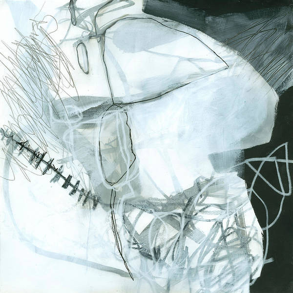 Line Drawing Painting - Black And White #6 by Jane Davies