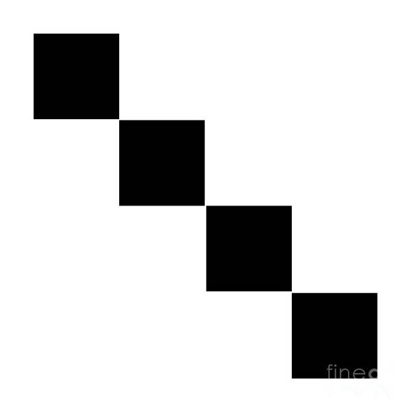 Digital Art - Black And White 8 Square by Andee Design