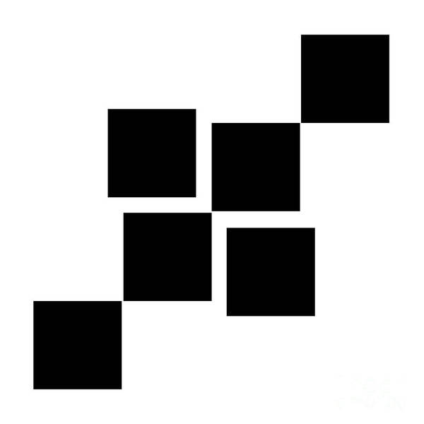 Digital Art - Black And White 9 Square by Andee Design