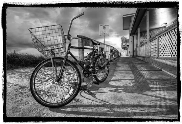Boynton Photograph - Black And White Beach Bike by Debra and Dave Vanderlaan