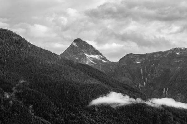 Photograph - Black And White Bute Inlet  by Roxy Hurtubise