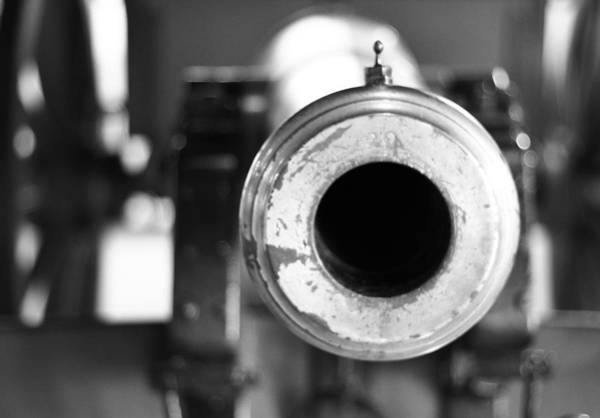 Wall Art - Photograph - Black And White Cannon by Dan Sproul