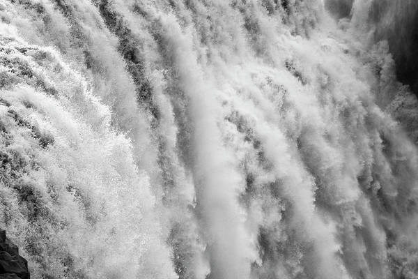 Wall Art - Photograph - Black And White Closeup Of Dettifoss by Andres Valencia