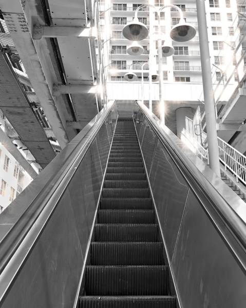 Photograph - Black And White Escalator by Rudy Umans
