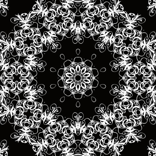 Mixed Media - Black And White Medallion 1 by Angelina Tamez
