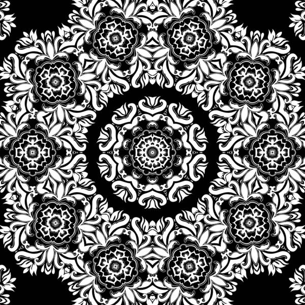Mixed Media - Black And White Medallion 10 by Angelina Tamez