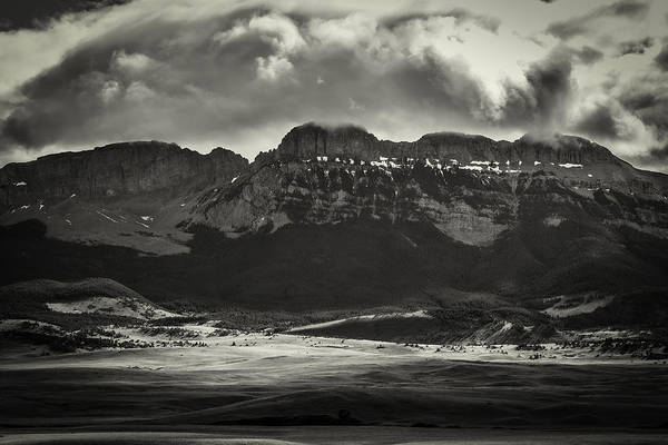 Photograph - Black And White Of Sun Valley Canyon by Thomas Young