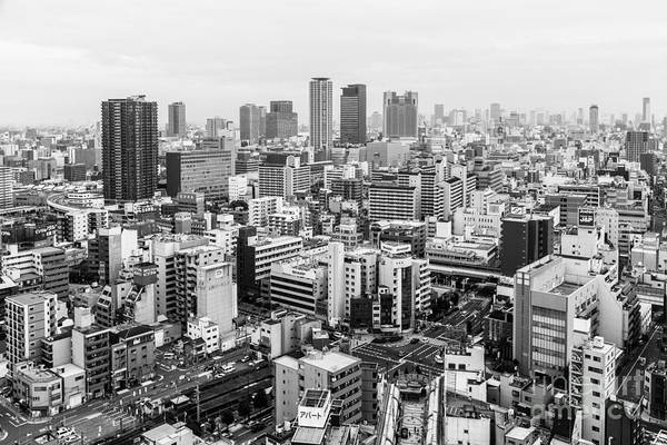 Photograph - Black And White Osaka by Didier Marti