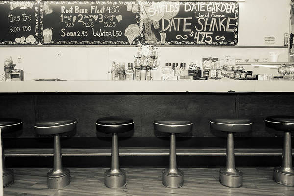 Wall Art - Photograph - Black And White Picture Of Diner by Julien Mcroberts